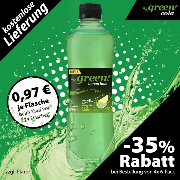Green Lemon-Lime Pet 500ml 6-er Pack