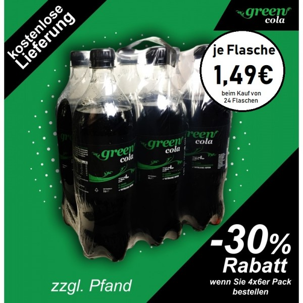 Green Cola Pet 1l 6-er Pack