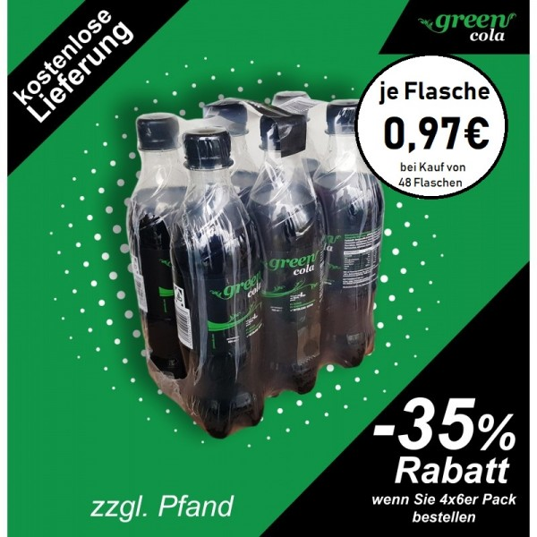 Green Cola Pet 500ml 6-er Pack